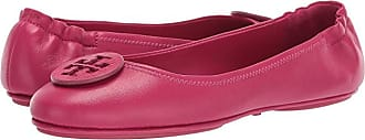Tory Burch Minnie Travel Ballet with Logo (Dark Azalea/Dark Azalea) Womens Flat Shoes