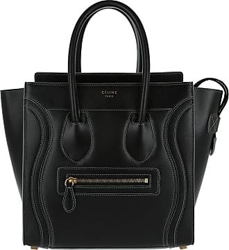 7e1b0b570ef87 Celine Tote Bag Micro Luggage Nero Grigio Tote schwarz