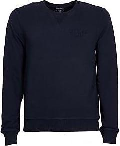 Woolrich Basic-Sweatshirt mit Rundhalsausschnitt aus Baumwolle in Marineblau - cotton   Alpine Navy   l