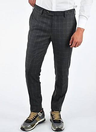 PT01 Super 130s Windowpane Checks Pants size 52