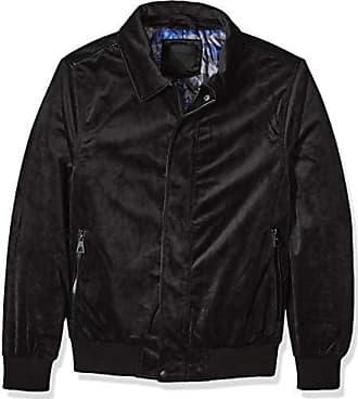 Urban Republic Mens Woven Velvet Jacket, darkcharcoal, L