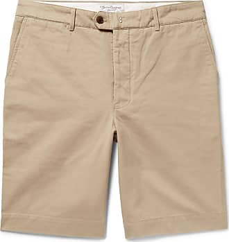 Officine Generale Fisherman Cotton-twill Shorts - Beige