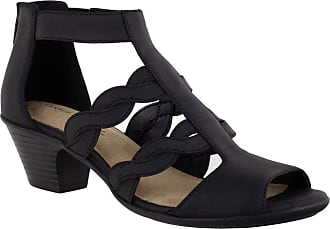 Easy Street Womens Daughtry Heeled Sandal, Black, 7.5 Narrow