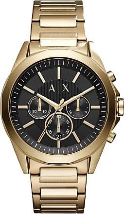 A|X Armani Exchange Relógio Quartz Couple Shot - Homem - Dourado - Único IT