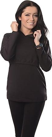 Purpless Maternity Pregnancy and Nursing Hoodie Top for Pregnant Breastfeeding Woman 9051 (18, Black)