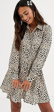In The Style x Dani Dyer animal print mini skater shirt dress-Multi