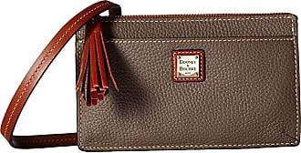 Dooney & Bourke Pebble Gingy Crossbody (Elephant/Tan Trim) Cross Body Handbags
