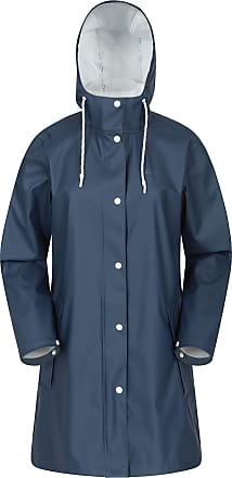 Mountain Warehouse Country Pu Womens Waterproof Jacket - Lightweight Ladies Rain Coat, Taped Seams, Adjustable Hood - for Outdoors, Travelling, Camping Blue 12