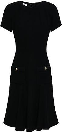 Oscar De La Renta Oscar De La Renta Woman Fluted Wool-blend Bouclé Dress Black Size 4