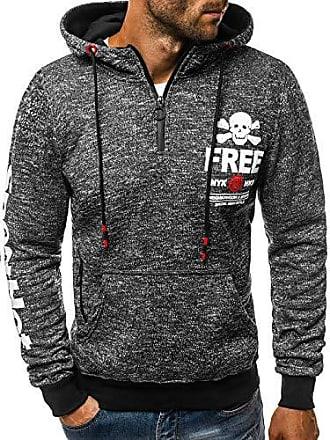 OZONEE Herren Kapuzenpullover Sweatshirt Langarmshirt Sweatjacke Pullover  Print Täglichen Modern Sportswear Kapuze Hoodie 777 052B 6121b68033