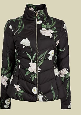 Ted Baker Elderflower Padded Packaway Jacket in Black ADAENA, Womens Clothing