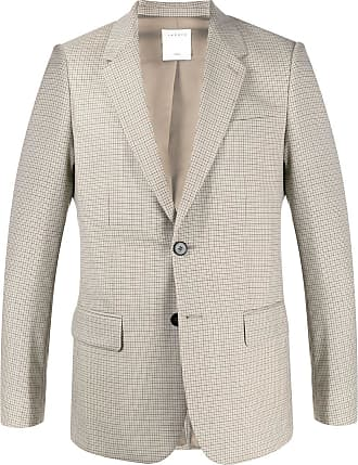 Sandro check single-breasted blazer - NEUTRALS