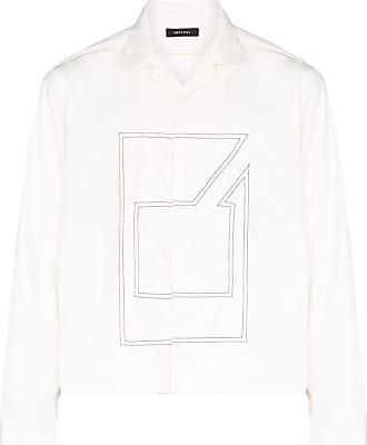 Nulabel Jaqueta com estampa gráfica - Branco