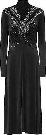 Paco Rabanne Embellished satin midi dress