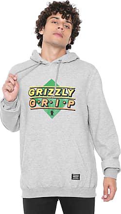 Grizzly Moletom Flanelado Fechado Grizzly G.R.I.P Cinza