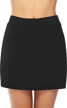 iClosam Womens Athletic Active Skort Skirt Sports Performance Skort Built-in Shorts Lightweight Skirt for Golf Tennis Running Workout Black