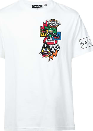 Haculla Encrypted patch T-shirt - White