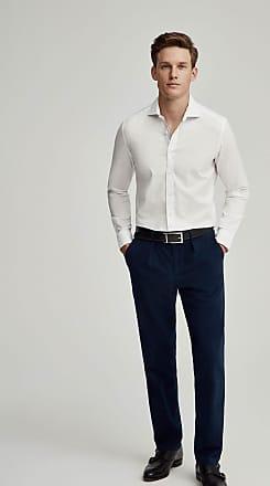 Hackett Mens Natural Stretch Cotton Shirt | 3XL | White