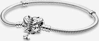 bracelet jonc ouvert façon maille serpent pandora moments