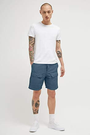 French Connection Garment Dyed Cotton Linen Shorts