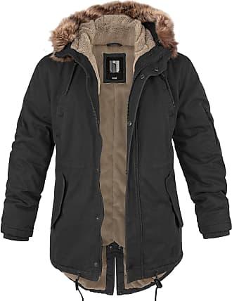 BW-Online-Shop Fishtail Winterparka mit Futter schwarz, Größe XXL