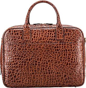 Maxwell Scott Maxwell Scott - Luxury Mens Mock Croc Leather Soft Briefcase