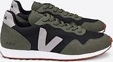 Veja Schwarzer Oxford Grey Olive SDU B Mesh Sneaker - 38