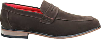 Fiorelli Mens Suede Faux Slip On Formal Smart Casual Shoes Italian Design Classic Loafers
