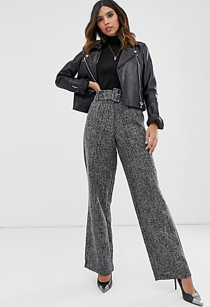 Y.A.S belted wide leg trouser-Black