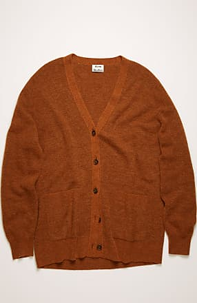 Acne Studios FN-WN-KNIT000194 Cognac brown V-neck cardigan