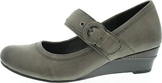 Jana Mary Jane 82430127206 Womens Shoes Graphite Grey Size: 7 UK