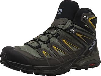 Salomon Mens X Ultra 3 Mid GTX High Rise Hiking Boots, Grey (Castor Gray/Black/Green Sulphur 000), 7.5 UK (41 1/3 EU)