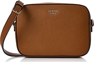 3323ac6e7af1 Guess Womens Hwvg6691120 Cross Body Handbag Brown (Cognac) 5.5x16x22  centimeters (W x