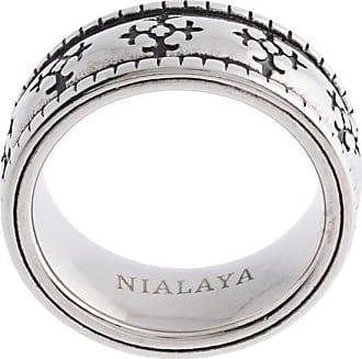 Nialaya enameled ring - SILVER