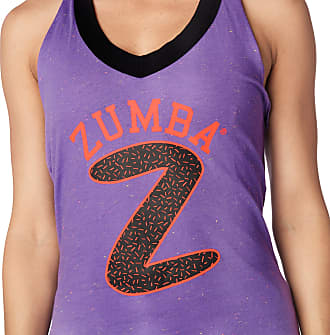 Zumba Graphic Print Fitness Halter Neck Tops Women Breathable Athletic Gym Top, Lady Lavender, M