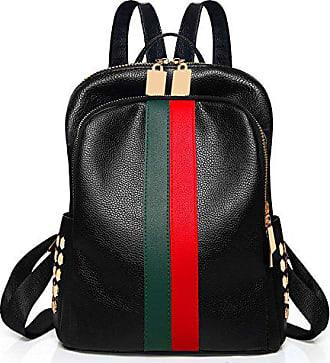 986a1b3808d7c TOMWELL Minetom Damen Vintage PU Leder Rucksack Schultasche Daypacks  Outdoor Umhängetasch Grün Rot Einheitsgröße