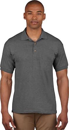 Gildan Gildan 3800 Ultra Cotton Adults Combed Ringspun Pique Polo Shirt Dark Heather 2XL
