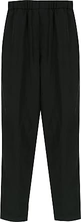 À La Garçonne elasticated cropped trousers - Black
