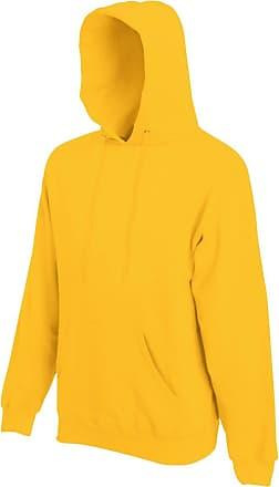 Fruit Of The Loom Mens Hooded Sweatshirt/Hoodie (2XL) (Sunflower)