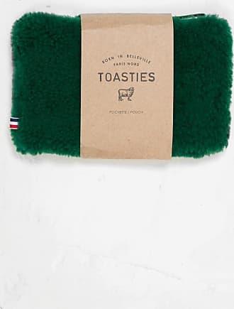 Toasties Sheepskin Pouch Green
