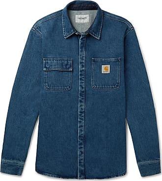 Carhartt Work in Progress Salinac Washed Denim Shirt - Blue