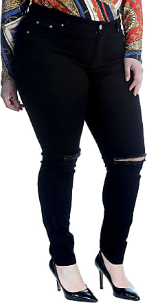 Nouvelle Collection Straight Leg Ripped Jeans Black 22