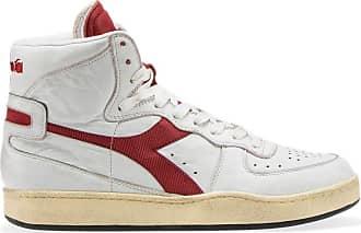 Diadora Sneaker MI Basket Used C7644 White Brick Red Taglia 40 - Colore  Bianco  479b30cb6d8