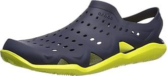 Crocs Mens Swiftwater Wave M Closed Toe Sandals, Blue (Navy/Citrus 000), 11 UK