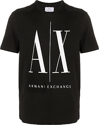 A|X Armani Exchange Camiseta mangas curtas com estampa de logo - Preto