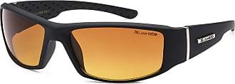 X Loop Mens Driving Sunglasses Matt Black Rubber Textured Wraparound Frame HI Def UV400 Protection Gradient Copper Lens + Pouch