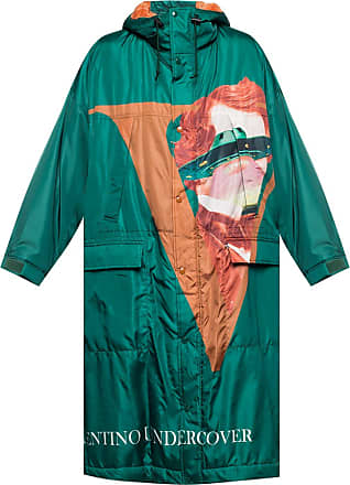 Undercover Printed Coat Mens Green