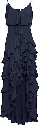 BODYFLIRT boutique Dam Klänning med volanger i blå utan ärm - BODYFLIRT  boutique a7fe6e5fa82ce