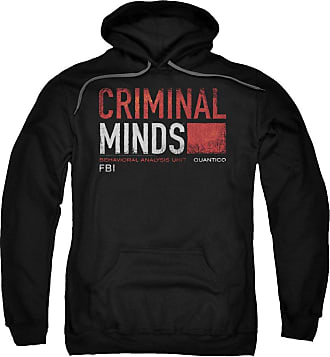 Popfunk Criminal Minds Title Card Unisex Adult Pull-Over Hoodie for Men and Women Black
