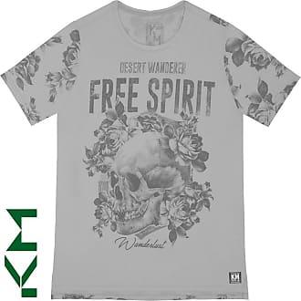KOHMAR Camiseta Manga Curta Free Spirit Masculina Kohmar- Cinza